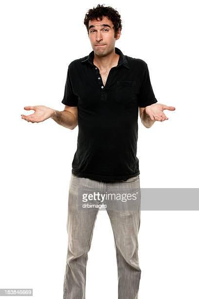 Incerta homem a encolher, Fotografia de Três Quartos