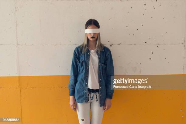 uncertainty - blindfolded stock photos and pictures