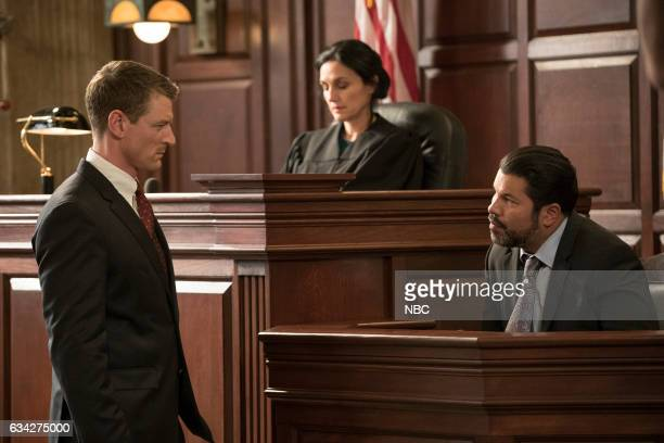 JUSTICE 'Uncertainty Principle' Episode 107 Pictured Philip Winchester as Peter Stone Sal Velez Jr as Adrian Carrera