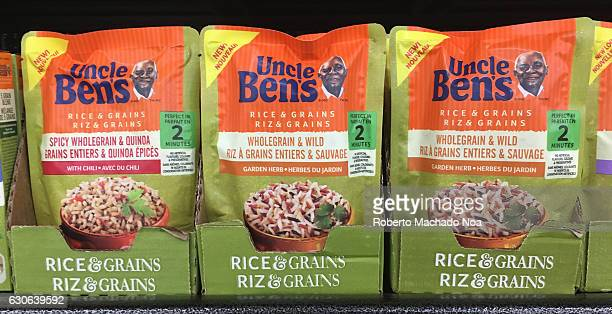 Uncle Ben's Rice and Grains packets on a shelf Uncle Ben's is a brand name for parboiled rice and other related food products The brand was...