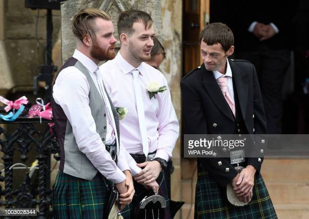 Uncle Calum MacPhail at the funeral of sixyearold Alesha MacPhail at the Coats Funeral Home on July 21 2018 in Coatbridge Scotland Alesha MacPhail's...