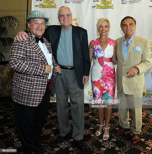 Uncle Floyd Vivino Pat Cooper Ann Liguori and Tony Lo Bianco attend the 2016 Lucas Foundation Golf And Dinner Awards at Brooklake Country Club on...