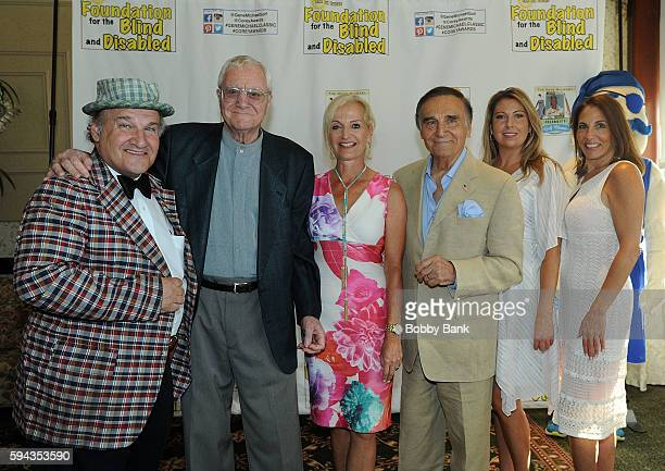 Uncle Floyd Vivino Pat Cooper Ann Liguori Tony Lo Bianco and Shannon Steitz attend the 2016 Lucas Foundation Golf And Dinner Awards at Brooklake...