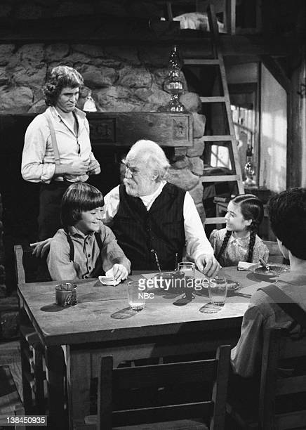PRAIRIE Uncle Jed Episode 15 Aired 2/1/82 Pictured Michael Landon as Charles Philip Ingalls Jason Bateman as James Cooper Ingalls EJ AndrT as Uncle...