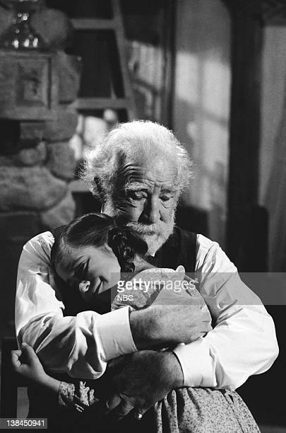 PRAIRIE Uncle Jed Episode 15 Aired 2/1/82 Pictured Missy Francis as Cassandra Cooper Ingalls EJ AndrT as Uncle Jed Cooper