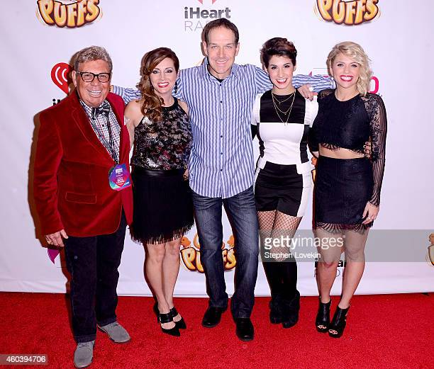 Uncle Johnny Danielle Monaro Froggy Sam and Carla Marie of the Elvis Duran the Z100 Morning Show attend the iHeartRadio Jingle Ball 2014 hosted by...