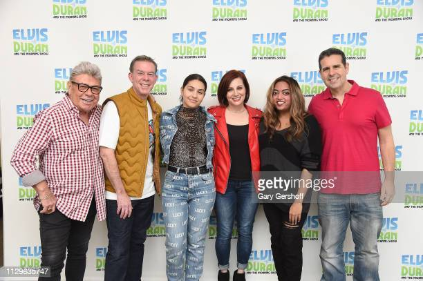 Uncle Johnny Elvis Duran singersongwriter Alessia Cara Danielle Monaro Medha Gandhi and Skeery Jones pose at 'The Elvis Duran Z100 Morning Show' at...