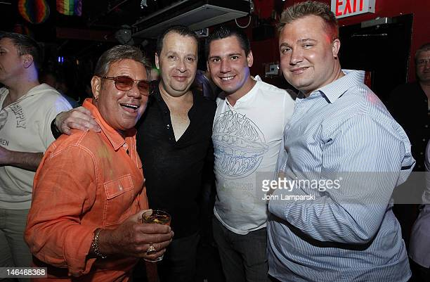 Uncle Johnny Larry Anderson Alex Carr and Steven Levine attends Alex Carr's birthday celebration at The Stonewall Inn on June 16 2012 in New York City