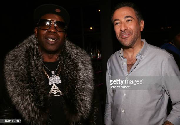 Uncle Murda and Ari Melber attend Uncle Murda's Album Release Party at Brooklyn Chop House on January 13 2020 in New York City