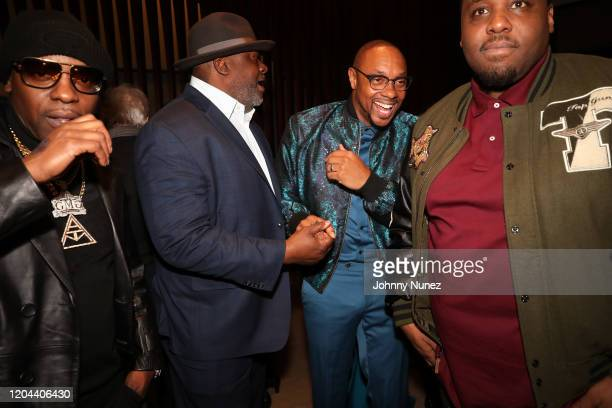 Uncle Murda DJ Chuck Chillout Dorian Missick and Mike Knox attend ABC's For Life New York Premiere at Alice Tully Hall Lincoln Center on February 05...