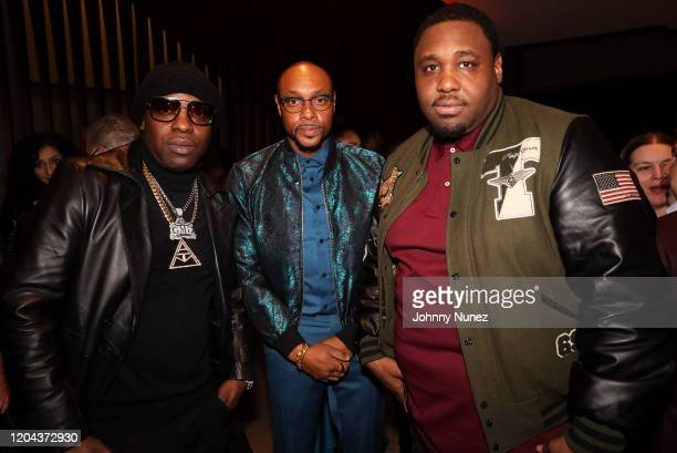 Uncle Murda Dorian Missick and Mike Knox attend ABC's For Life New York Premiere at Alice Tully Hall Lincoln Center on February 05 2020 in New York...