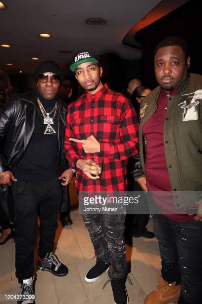 Uncle Murda Mysonne and Mike Knox attend ABC's For Life New York Premiere at Alice Tully Hall Lincoln Center on February 05 2020 in New York City