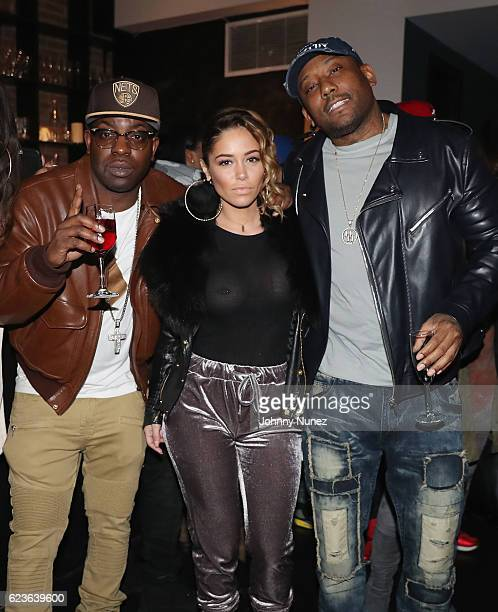 Uncle Murda Sophia Body and Maino attend DJ Suss One Birthday Celebration at The Loft on November 15 2016 in New York City
