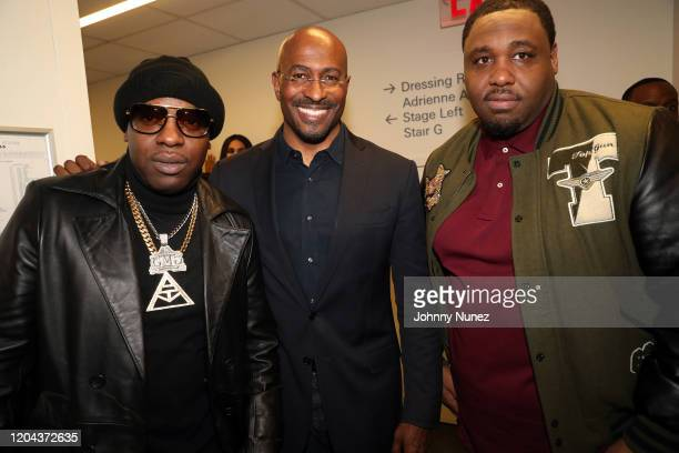 Uncle Murda Van Jones and Mike Knox attend ABC's For Life New York Premiere at Alice Tully Hall Lincoln Center on February 05 2020 in New York City