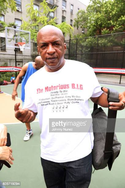 Uncle Ralph McDaniels attends the ribbon cutting ceremony at Crispus Attucks Playground on August 2 2017 in the Brooklyn borough of New York City NYC...