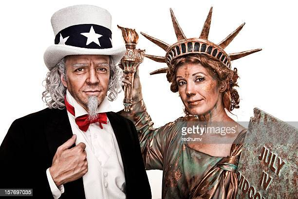 Uncle Sam and Lady Liberty