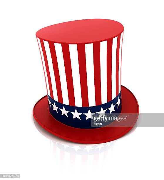 uncle sam hat - top hat stock pictures, royalty-free photos & images
