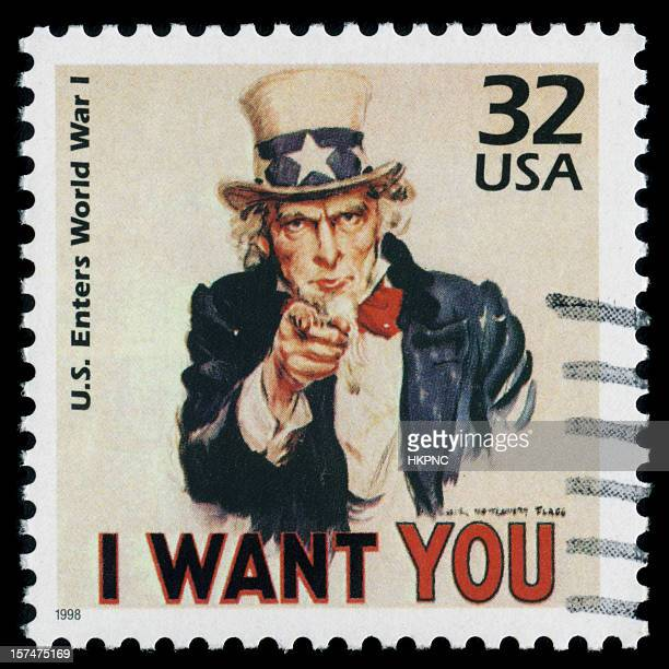 "Uncle Sam, ""I Want You"" PERFECT Postage Stamp HUGE File"