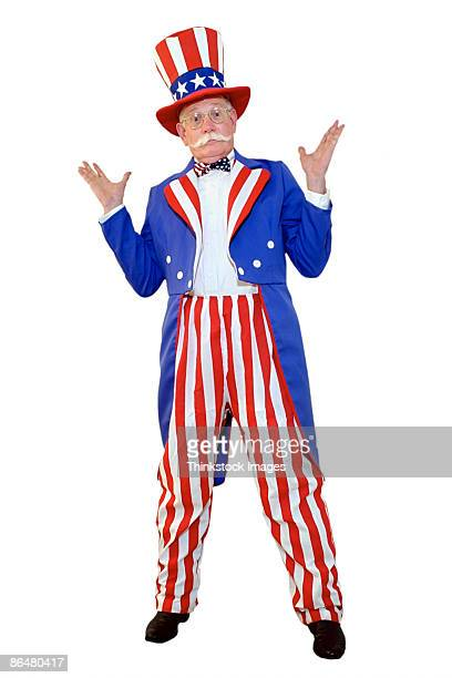 Uncle Sam shrugging