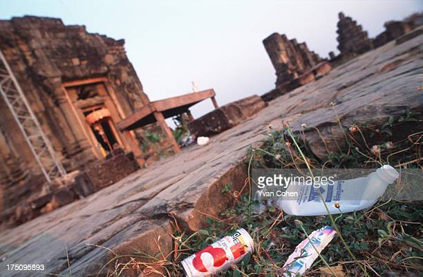 Uncollected refuse at the Angkor Wat site As the temples have become increasingly popular among tourists the proplem of garbage collection has become...