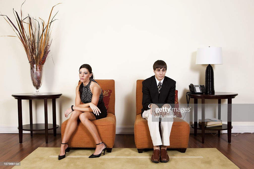 Uncomfortable Office Situation : Stock Photo
