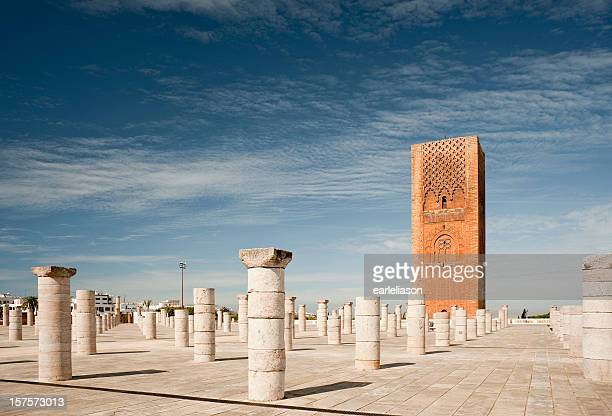 uncompleted mosque in rabat - rabat morocco stock pictures, royalty-free photos & images