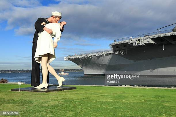 unconditional surrender - vj day stock photos and pictures