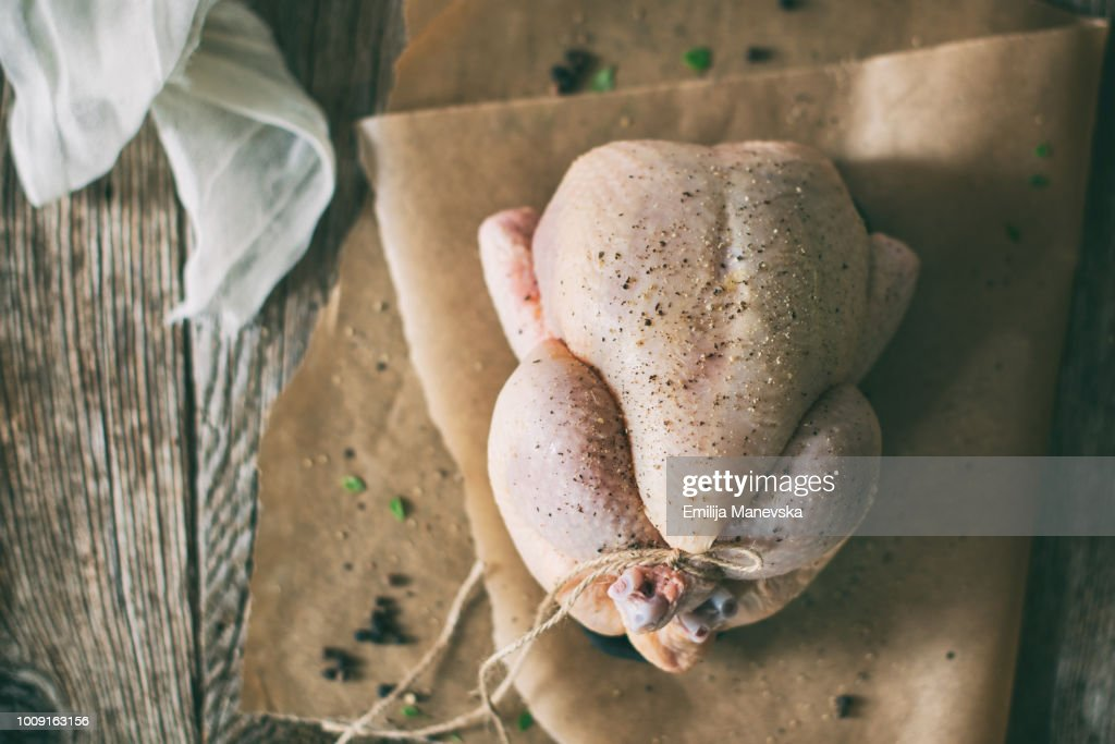 Uncooked Chicken : Stock Photo