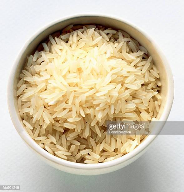 Uncooked Jasmine Rice in a Bowl