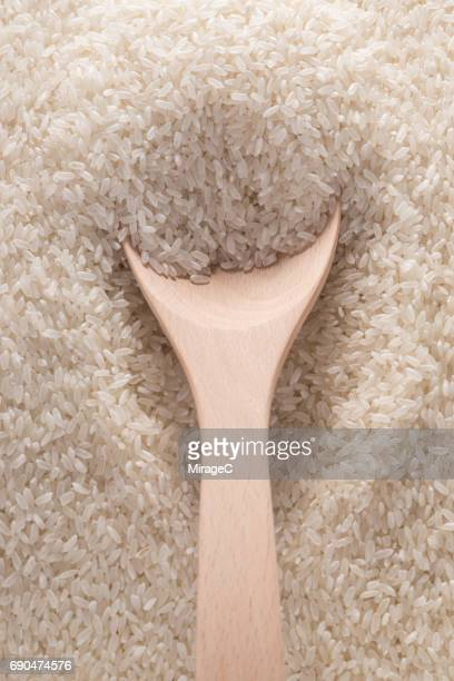 Uncooked Rice Grains