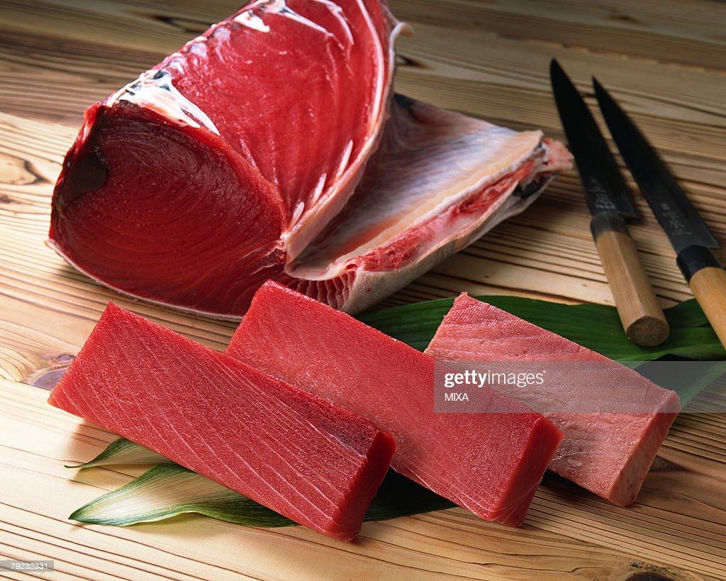 Uncooked tuna : Stock Photo