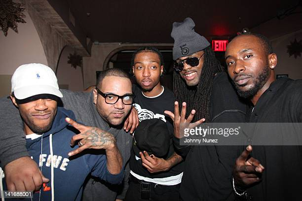 Uncuttin K, Yung Stat, Fo Sho, Adolane and Kaizer Sozay attend the 5 listening party at Tillman's on March 21, 2012 in New York City.