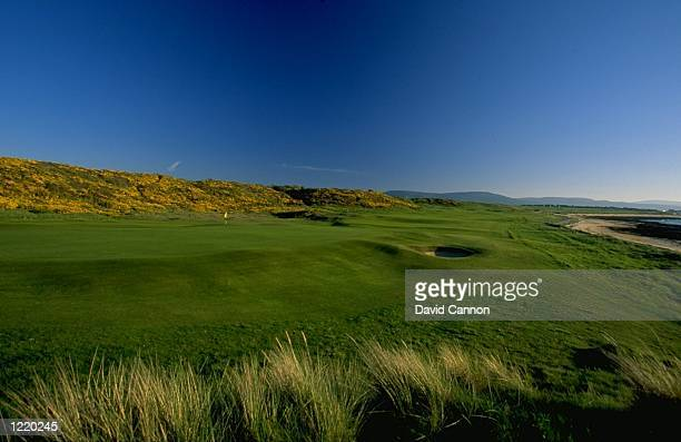 General view of the 529 yard par 5, 9th hole at the Royal Dornoch GC in Sutherland, Scotland. \ Mandatory Credit: David Cannon /Allsport