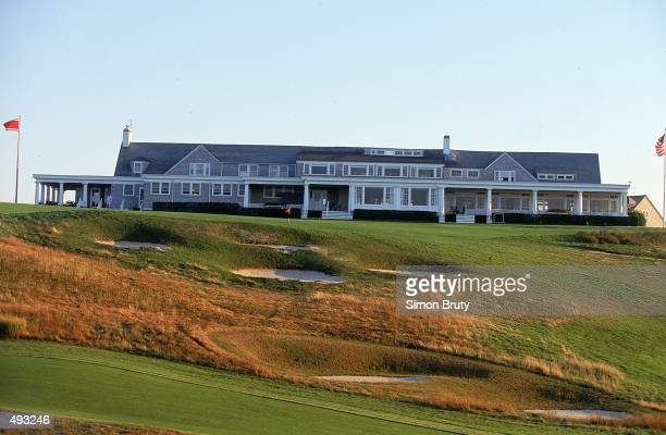 A general view of the Club House from the 9th Hole taken at Shinneock Hills Golf Course in Southampton New York Mandatory Credit Simon Bruty /Allsport