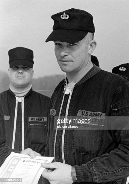 Undated archive picture from the 1960s of American warrant officer Carl E. Miller. Miller survived a jump with the parachute from 900 metres height...