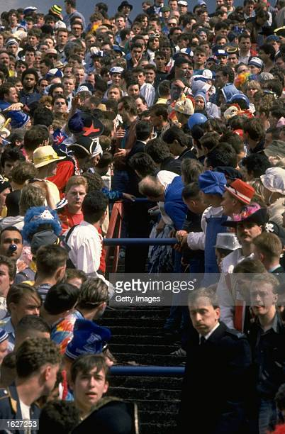 Crowd trouble on the terraces during the match between Crystal Palace and Birmingham at Selhurst Park in London Crystal Palace won the match 41...
