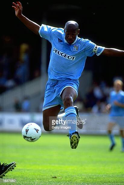 Dion Dublin of Coventry City in action during a match. \ Mandatory Credit: Allsport UK /Allsport