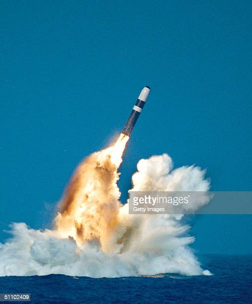 A Trident Ii Or D5 Missile Is Launched From An OhioClass Submarine In This Undated File Photo According To A Congressional Report To Be Released May...