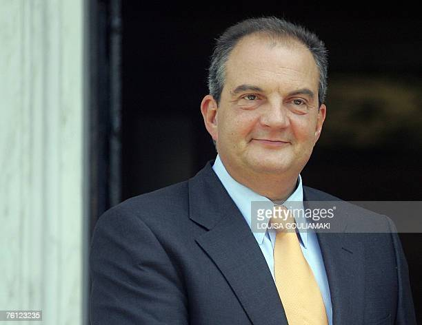 Undated file photo of the Greek Prime Minister Costas Karamanlis outside of his office in AthensThe Greek government has decided to bring forward...