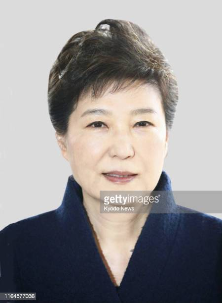 Undated file photo shows former South Korean President Park Geun Hye South Korea's Supreme Court on Aug 29 nullified a lower court ruling that...