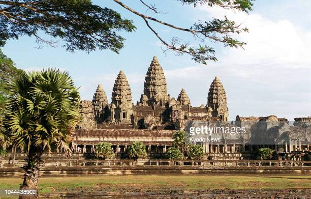 Undated file photo shows the Angkor Wat, a UNESCO World Heritage site in Siem Reap, Cambodia. ==Kyodo