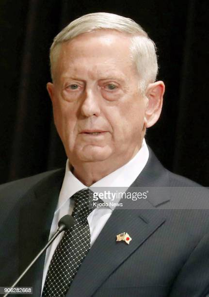 Undated file photo shows US Defense Secretary Jim Mattis Mattis told a 20nation foreign ministerial meeting in Vancouver Canada on Jan 15 that the...
