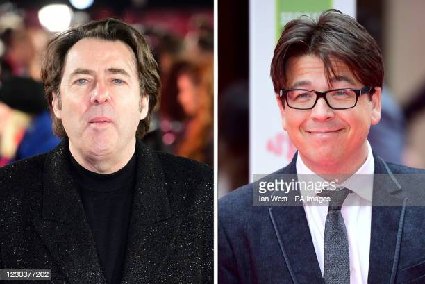 Undated file photos of Jonathan Ross and Michael McIntyre. Ross has revealed the role he inadvertently played in landing the comedian his big break.