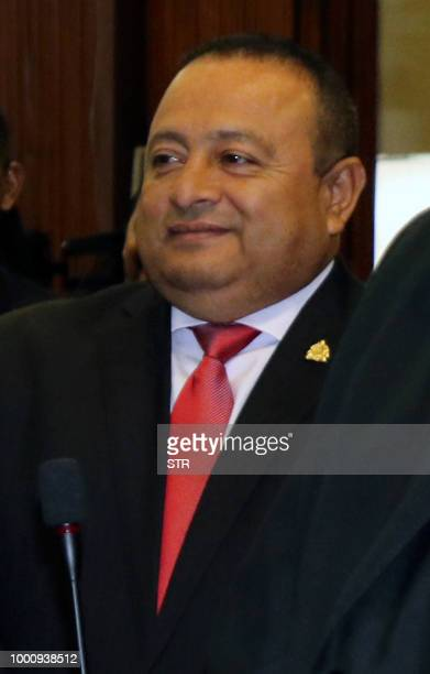 Undated file picture of Honduran congressman for the Liberal party Oqueli Martinez Turcios in Tegucigalpa who was charged on July 17 2018 for...