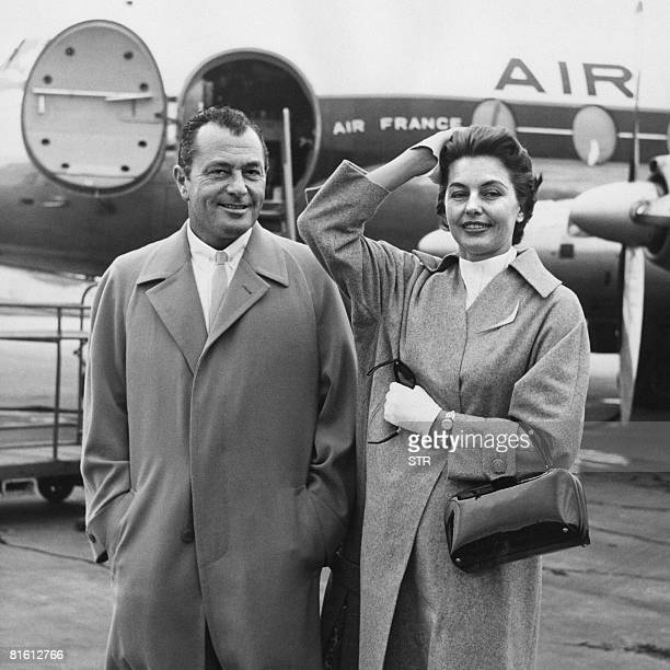 Undated file picture of late US dancer and actress Cyd Charisse with her second husband crooner Tony Martin whose legs were insured for a million...