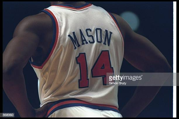 Forward Anthony Mason of the New York Knicks looks on during a game at Madison Square Garden in Manhattan, New York. Mandatory Credit: Simon Bruty...