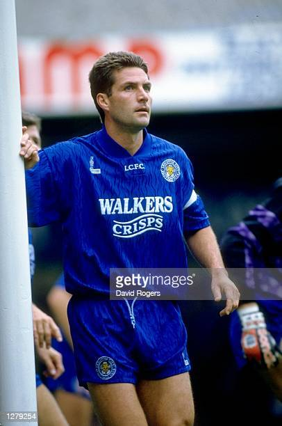 Gary Mills of Leicester City stands by the goal during an FA Carling Premiership match against Birmingham City at Filbert Street in Leicester England...