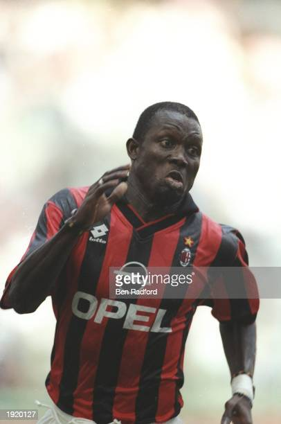 George Weah of AC Milan in action during a match. \ Mandatory Credit: Ben Radford/Allsport