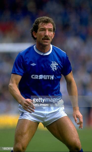 Graeme Souness of Rangers in action during the Scottish Division One match against Aberdeen played in Aberdeen Scotland The match finished in a 11...