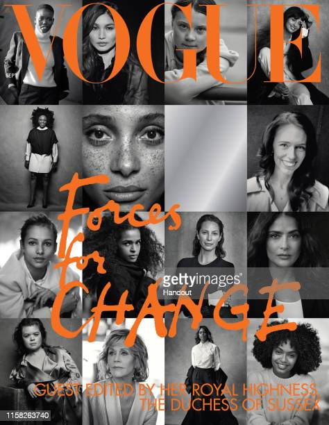 Undated handout photo issued by Kensington Palace of The cover of British Vogue's September issue entitled Forces for Change which is guest edited by...